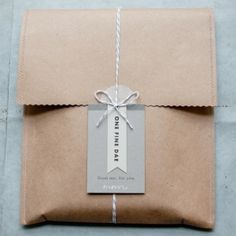 Kraft paper, a sewing maching and pinking shears...voila wonderful gift wrap!