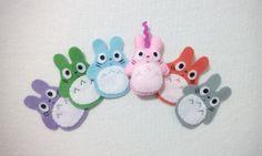Handmade Felt plush mini Totoro doll di BarbaraCreazioni su Etsy, €4.90