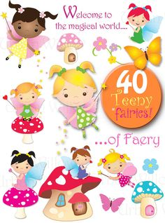 Clip art for personal and small commercial use. Please read our Terms of Use policies before purchasing, thank you. ******INSTANT DOWNLOAD******** ♡ ULTIMATE TEENY FAIRY PACK ♡ - 40 piece digital clip art value pack, in high resolution, Png digital art files. Everything you