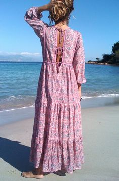 BALI cotton print dress Blue Hippy Summer 2015 Collection #boho #gypset #hippy…