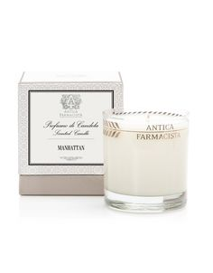 60 hours of scented illumination. Our nine-ounce candle is beautifully produced in a clear glass vessel with our platinum leaf pattern and packaged in our pedestal presentation box.