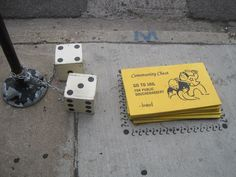 The City as Lifesize Monopoly Board ::: Chicago ::: street art by bored