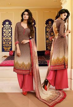 TOP: Cotton Satin BOTTOM : Cotton Satin ( Unstiched) DUPATTA: Chiffon COLOR: Pink WORK: Print TYPE: Semi stitched SIZE: Adjustable up to 42 SHIPPING & RETURNS - Product will be shipped within 1 to 2 w