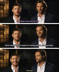 "AND PIE! No. It's Jensen's supposed to say "" the family business"""