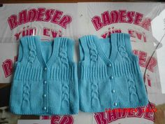 """diy_crafts-HUZUR SOKAĞI (Yaşamaya Değer Hobiler) """"This post was discovered by HUZ"""", """"I am aware that if you are not a very good knitter you wi Baby Knitting Patterns, Baby Patterns, Crochet For Kids, Crochet Baby, Half Sweater, Baby Vest, Knitwear Fashion, Knit Vest, Baby Sweaters"""