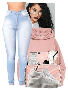 """""""Untitled #211"""" by babygirlkiki ❤ liked on Polyvore featuring Michael Kors, GUESS, MICHAEL Michael Kors and Puma"""