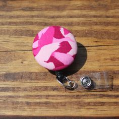 Duck Dynasty Pink Camo Badge Reel, Duck Commander, Pink, ID holder, Retractable, Swivel Clip, RN, CNA, Coach, Teacher, Fabric Badge by TheNerdyFatCat on Etsy