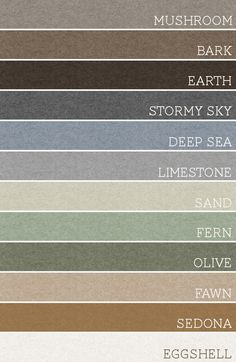 A palette for the whole house! Make each room any 3 of these colors