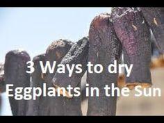 3 Τρόποι να Στεγνώσετε τις Μελιτζάνες στον Ήλιο 3 Ways to dry Eggplant  ... My Favorite Food, Favorite Recipes, Mary Poppins, Group