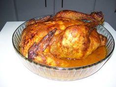Recetas de Cocina: Pollo entero asado al horno