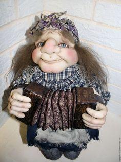 Купить Яга - авторская кукла, Яга, баба яга, гармошка, сказочный персонаж, капрон