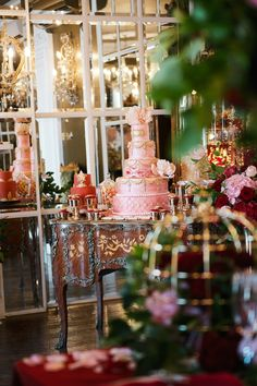 Lavish dessert table | Kate Nielen Photography and Elizabeth's Cake Emporium | see more on: http://burnettsboards.com/2014/09/lavish-wedding-cakes/