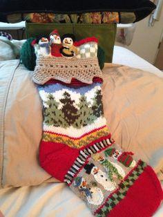 New Knitting Christmas Stocking Ideas 51 Ideas Knitted Christmas Stocking Patterns, Knitted Christmas Stockings, Christmas Knitting, Knit Stockings, Intarsia Knitting, Baby Knitting, Christmas Scents, Christmas Crafts, Fair Isle Knitting