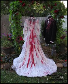 Bloody VAMPIRE COSTUME Vampire Dress Bloody Zombie Bride of Frankenstein Halloween Size 6 Gothic Bridal Corpse Bride by SweetDarknessDesigns by SweetDarknessDesigns on Etsy