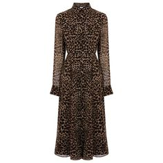 Buy Warehouse Leopard Print Midi Dress from the Next UK online shop Maya Fashion, Boho Fashion, Fashion Outfits, Fashion Women, Autumn Fashion, Midi Shirt Dress, Mod Dress, Church Dresses, Church Outfits