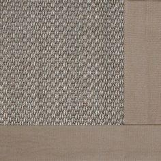 Fibreworks Coastal Classic Sisal Sierra Bordered with Cotton Granola Contemporary Rug