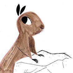 Squirrel Illustration by Ricardo De Los Angeles