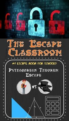 The #1 Escape Room for Schools! Give your students an exciting and engaging activity all while testing their knowledge on the Pythagorean Theorem. CLICK to check out the rest of our amazing products! BE THE COOL TEACHER that all the students love! :) Student Teaching, Math Teacher, Escape The Classroom, Bad Leadership, Pythagorean Theorem, Math Problem Solving, Teaching Methods, Escape Room, Math Lessons