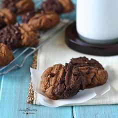 Two-toned Chewy Cookies- Inspired by peanut butter cookies, but made with almond butter! (gluten-free, grain-free, dairy-free, Paleo)