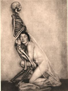 From the Portfolio Narre Tod, Mein Spielgesell/Fool Death, My Playmate,c.1922  by Franz Fiedler [few more here]  via apfelauge  [with special thanks to frenchtwist;]