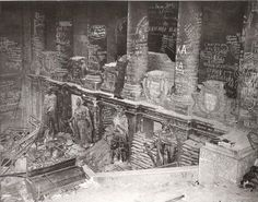 Inside the ruins of the Reichstag, Berlin