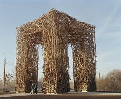 Nikolay Polissky Creates Towering, Handcrafted Structures Across Russia,Likhoborskie Gate (2005). Image Courtesy of Nikolay Polissky