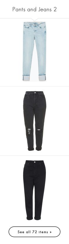 """""""Pants and Jeans 2"""" by theonlynewgirl ❤ liked on Polyvore featuring jeans, pants, bottoms, pantalones, light blue, blue jeans, zara jeans, light blue jeans, trousers and washed black"""