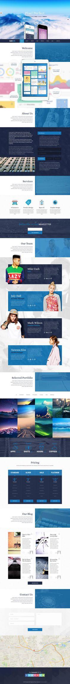 Sandor WordPress Theme - Design Drips Wordpress Theme Design, Web Design, Design Web, Website Designs, Site Design