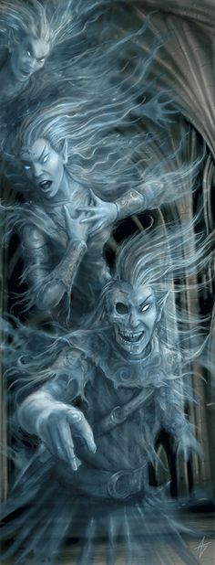 Anne Stokes - Three Ghosts