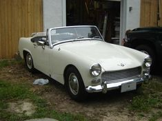 1962 Austin Healey Sprite. My first sports car was identical to this one, complete with the luggage rack.