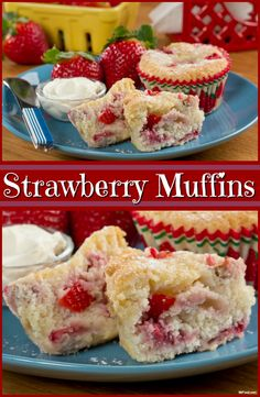 These made-from-scratch Strawberry Muffins are simply delicious.