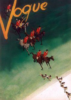 ( ELI ZABE - vintage equestrian poster Vogue October 15 1938 Pages Jewels Furs Duke Duchess of Windsor Cap d'Antibes Equestrian Decor, Equestrian Style, Windsor, Cap D Antibes, Vintage Vogue Covers, Horse Posters, Vogue Magazine Covers, Equine Art, Grafik Design