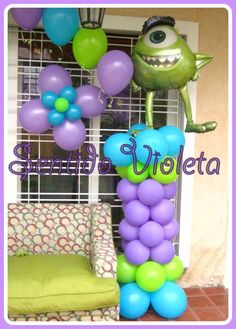 Gold Party Decorations, Balloon Decorations, Monsters Inc Decorations, Baby Birthday, Birthday Parties, Monsters Ink, Ideas Para Fiestas, Balloons, Baby Shower