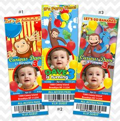 Hey, I found this really awesome Etsy listing at https://www.etsy.com/listing/201256333/curious-george-birthday-invitation