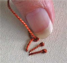 how to work pistil stitch step 4