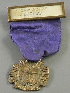 Fireman's Badge Ribbon Chief Ayers Antique  http://www.ebay.com/itm/Firemans-Badge-Ribbon-Chief-Ayers-Antique-/330715344165?pt=LH_DefaultDomain_0=item4d002bad25#ht_3375wt_754