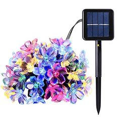 $8.99  - 50 LED Fairy String Lights Solar Powered 50 LED Garden String Lights Vibrant MultiColor Floral String Lights Christmas Starry Lights for Garden Patio Landscape Outdoor Decor -- More info could be found at the image url. (This is an affiliate link)