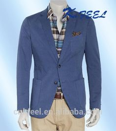 Check out this product on Alibaba App Men's Slim Fit Cotton Blazer Sportcoat With Patch Pockets