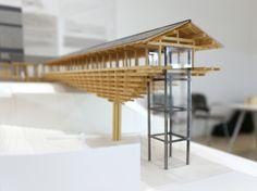 Yusuhara Wooden Bridge Museum by Kengo Kuma(via designboom)