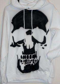 Skull Hoodie by SundayBestClothingCo on Etsy, $30.00
