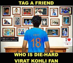 We all have that Virat Kohli fan! For more cricket fun click: http://ift.tt/2gY9BIZ - http://ift.tt/1ZZ3e4d