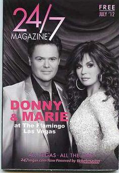 LAS VEGAS 24/7 Magazine DONNY & MARIE OSMOND July 2012