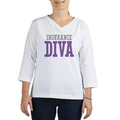 Insurance DIVA Womens Long Sleeve Shirt (3/4 Sleeve) on CafePress.com