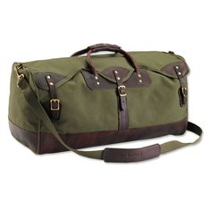 Made in USA, Made in America. Canvas and Leather Duffle Bag. #fathersday