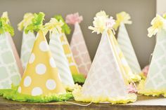 Princess Safari First Birthday Party Hats