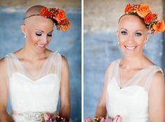 Love Never Fails Cancer Photoshoot Leukemia bald bride