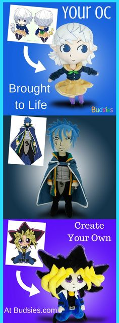 Turn your OC, anime fanart, custom drawings, favorite manga characters and more into your own Custom Plushie at Budsies.com. Custom commissions. Only $89!