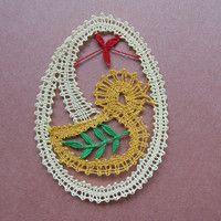 paličkovaná velikonoční vajíčka - Hledat Googlem Bobbin Lace, Tatting, Diy And Crafts, Crochet Earrings, Metal, Macrame, Inspiration, Image, Dishcloth