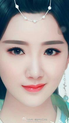 Just Beauty, Beauty Art, Beauty Women, Digital Art Girl, Digital Portrait, Female Eyes, Female Art, Cute Girl Drawing, Painting Of Girl