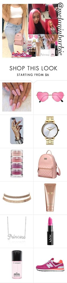 """""""Finna go to this Mall & Shop like a Princess , finna buy this whole mall up"""" by xmelaninprincessbarbiex ❤ liked on Polyvore featuring H&M, Nixon, MAC Cosmetics, Princess Carousel, Charlotte Russe, La Mer, Belk & Co., NYX and New Balance"""